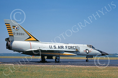 F-106AUSAF 00131 A static Convair F-106A Delta Dart USAF 90011 460th FIS BEWARE OF THE TIGER 3-1973 military airplane picture by R J Mills, Jr