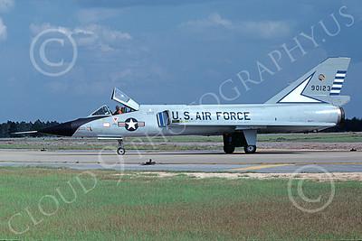 F-106AUSAF 00165 A taxing Convair F-106A Delta Dart USAF 90123 48th FIS TAZLANGLIAN DEVILS Tyndall AFB 10-1978 by Peter B Lewis
