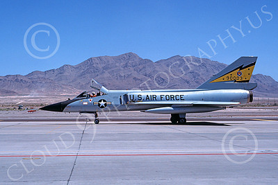 F-106AUSAF 00123 A flying Convair F-106A Delta Dart USAF 90003 5th FIS SPITTEN KITTENS Nellis AFB 7-1979 military airplane picture by Michael Grove, Sr