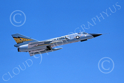 F-106AUSAF 00120 A flying Convair F-106A Delta Dart USAF 90003 5th FIS SPITTEN KITTENS Nellis AFB 7-1979 military airplane picture by Michael Grove, Sr