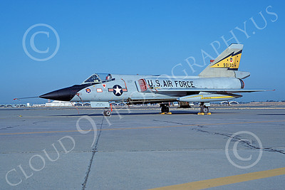 F-106AUSAF 00111 A static Convair F-106A Delta Dart USAF 90130 5th FIS SPITTEN KITTENS McClellan AFB 8-1981 military airplane picture by Peter B Lewis