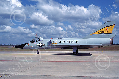 F-106AUSAF 00119 A taxing Convair F-106A Delta Dart USAF 90002 5th FIS SPITTEN KITTENS Tyndall AFB 10-1984 military airplane picture by Ray Leader