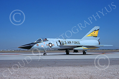 F-106AUSAF 00109 A taxing Convair F-106A Delta Dart USAF 80793 5th FIS SPITTEN KITTENS D-M AFB 4-1982 military airplane picture by Brian C Rogers