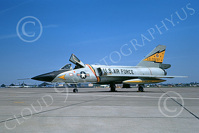 F-106AUSAF 00113 A static Convair F-106A Delta Dart USAF 70237 5th FIS SPITTEN KITTENS McClellan AFB 6-1972 military airplane picture by Peter B Lewis
