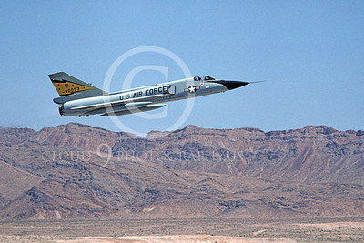 F-106AUSAF 00104 A flying Convair F-106A Delta Dart USAF 90093 5th FIS SPITTEN KITTENS Nellis AFB 7-1979 military airplane picture by Michael Grove, Sr