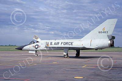 F-106AUSAF 00135 A static Convair F-106A Delta Dart USAF 60463 71st FIS THE IRONMEN 8-1967 military airplane picture by Dougals D Olson