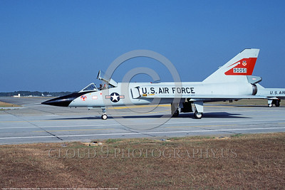 F-106AUSAF-87thFIS 0009 A taxing Convair F-106A Delta Dart USAF Cold War era Century Series fighter-interceptor 90051 87th FIS Tyndall AFB 10-1984 military airplane picture by Ray Leader     DONEwt