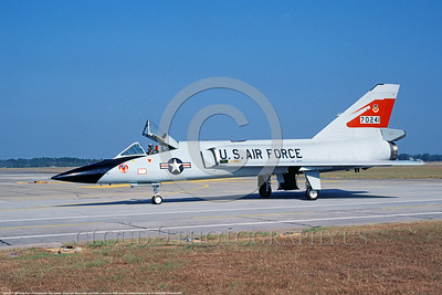 F-106AUSAF-87thFIS 0007 A taxing Convair F-106A Delta Dart USAF Cold War era Century Series fighter-interceptor 70241 87th FIS Tyndall AFB 10-1984 military airplane picture by Ray Leader     DONEwt