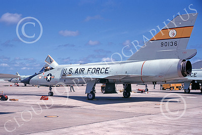 F-106AUSAF 00127 A static Convair F-106A Delta Dart USAF 90136 94th FIS HAT IN THE RING 9-1977 military airplane picture by Ted Neil
