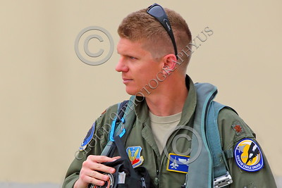 ACM 00118 A California ANG F-15 Eagle jet figher pilot seen walking to his jet for a training flight, by Peter J Mancus