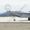 F-15ANG 00071 Two McDonnell Douglas F-15 Eagle jet fighters California ANG 144 FW at EOR for final check before take-off at Fresno ANG base 3-2015 military airplane picture by Peter J Mancus