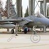ACM 00150 A California ANG F-15 crew chief gives his pilot a respectful salutee as the pilot taxis out for a training mission at Fresno ANG base 3-2015 military airplane picture by Peter J Mancus