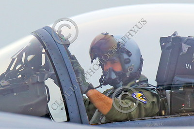 ACM 00115 The weight of the targeting visor on this California ANG F-15 Eagle jet figher pilot's helmet causes cervical neck pain, by Peter J Mancus