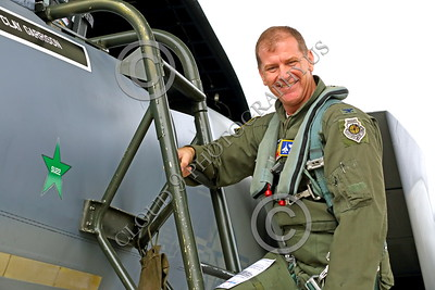 ACM 00047 Portrait of a smiling, full colonel USAF Fighter Weapons School graduate California ANG highly experienced F-15 Eagle jet figher pilot, by Peter J Mancus