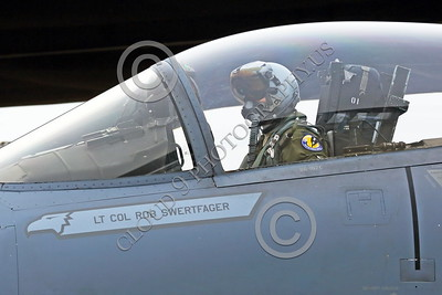 ACM 00049 Portrait of a California ANG F-15 Eagle jet figher pilot with new heavier sophisticated helmet that causes cervical pain, by Peter J Mancus