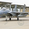 F-15ANG 00059 A McDonnell Douglas F-15 Eagle jet fighter California ANG 84014 144 FW's commanding officer's airplane taxis at Frenso ANG base 3-2015 military airplane picture by Peter J Mancus