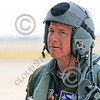ACM 00114 A highly experienced full colonel USAF Fighter Weapons School graduate California ANG F-15 Eagle jet figher pilot looks over his jet before flying, by Peter J Mancus