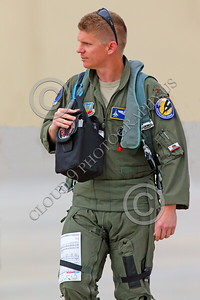 ACM 00051 A California ANG F-15 Eagle jet figher pilot seen walking to his jet for a training flight, by Peter J Mancus