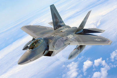 An F-22 Raptor soars through the air July 1, 2010, on its way home to Joint Base Pearl Harbor-Hickam, Hawaii. The first two F-22s, the U.S. Air Force's most advanced fighter jet, were dedicated July 9, 2010, at a ceremony here. (U.S. Air Force photo/Senior Airman Gustavo Gonzalez)