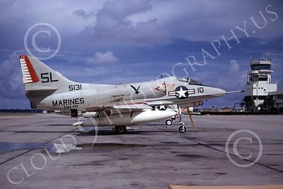 A-4USMC 00387 Douglas A-4C Skyhawk USMC 145131 VMA-134  NAS Jacksonville 9-1971, by L B Sides