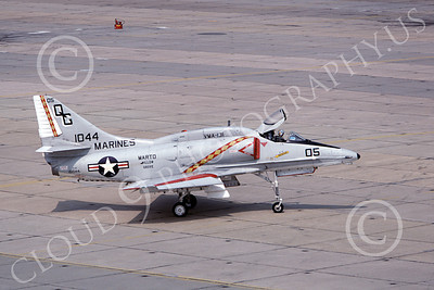 A-4USMC 00211 A taxing Douglas A-4E Skyhawk USMC 151094 VMA-131 DIAMONDBACKS 7-1978 millitary airplane picture by Ron McNeil