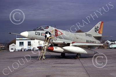 A-4USMC 00199 Douglas A-4E Skyhawk USMC 149489 VMA-131 DIAMONDBACKS 3-1974, by Michael Grove, Sr
