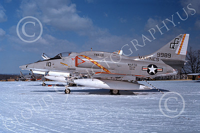 A-4USMC 00041 A static Douglas A-4 Skyhawk USMC 149989 VMA-131 DIAMONDBACKS NAS Willow Grove 7-1976 military airplane picture by Boy Rys