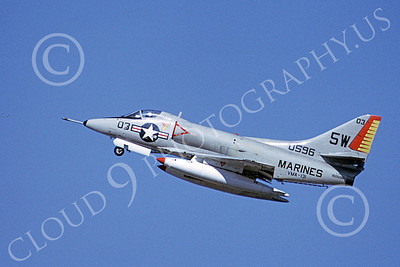 A-4USMC 00334 A flying Douglas A-4 Skyhawk USMC 150596 VMA-131 DIAMONDBACKS CRASHED 3-1972 airplane picture by Michael Grove, Sr