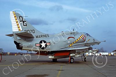 A-4USMC 00145 Douglas A-4E Skyhawk USMC 152070 VMA-131 DIAMONDBACKS 11-1978, by Michael Grove, Sr jkl