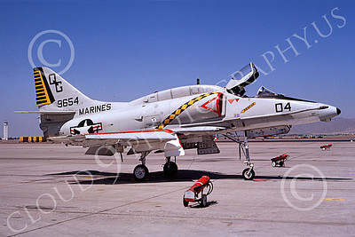 A -4USMC 00125 Douglas A-4E Skyhawk USMC 149654 VMA-131 DIAMONDBACKS Luke AFB 7-1988 airplane picture by Michael Grove, Sr