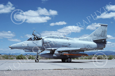 A-4USMC 00169 Douglas A-4M Skyhawk USMC 159479 VMA-131 DIAMONDBACKS NAS Fallon 6-1993, by Michael Grove, Sr