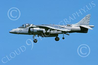 AV-8B-USMC 00068 A landing McDonnell Douglas AV-8B Harrier USMC 164119 CF code VMA-211 WAKE ISLAND AVENGERS 11-2005 airplane picture by Michael Grove, Sr