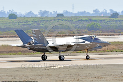 F-35B-VMFA-211 00007 A taxing Lockheed Martin F-35B Lightning II USMC 168840 stealth jet fighter VMFA-211 AVENGERS CF code MCAS Miramar 9-2016 military airplane picture by Peter J  Mancus