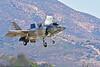 F-35B-VMFA-211 00048 A flying Lockheed Martin F-35B stealth jet fighter USMC 168839 VMFA-211 AVENGERS in VSTOL landing mode MCAS Miramar 9-2016 military airplane picture by Peter J  Mancus
