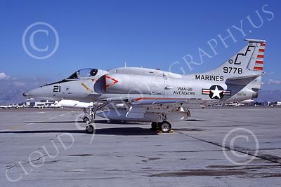 A-4USMC 00084 A USMC Douglas A-4M Skyhawk, 159778, attack jet, VMA-211 AVENGERS, NAS Moffett 12-1980, airplane picture, by Michael Grove, Sr
