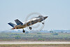 F-35B-VMFA-211 00050 A flying Lockheed Martin F-35B stealth jet fighter USMC 168840 VMFA-211 AVENGERS take-off MCAS Miramar 9-2016 military airplane picture by Peter J  Mancus