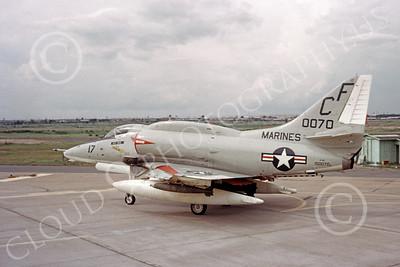 A-4USMC 00092 A USMC Douglas A-4E Skyhawk, 150070, attack jet, VMA-211 AVENGERS, Bien Hoa 6-1972, airplane picture, by Don Logan