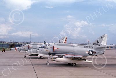 A-4USMC 00088 A USMC Douglas A-4E Skyhawk, attack jet, VMA-211 AVENGERS, Bien Hoa, airplane picture, by Don Logan