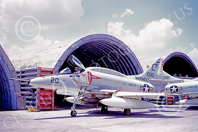A-4USMC 00094 A USMC Douglas A-4E Skyhawk, 151030, attack jet, VMA-211 AVENGERS, Bien Hoa 5-1972, airplane picture, by Don Logan