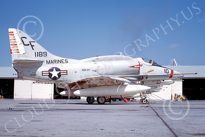 A-4USMC 00086 A USMC Douglas A-4 Skyhawk, 151189, attack jet, VMA-211 AVENGERS, 11-1969, airplane picture, by Clay Janson