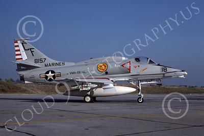 A-4USMC 00078 A USMC Douglas A-4M Skyhawk, 158157, attack jet, VMA-211 AVENGERS, NAS Fallon 6-1977, airplane picture, by Michael Grove, Sr