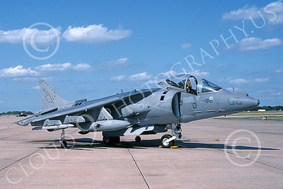 AV-8B-USMC 00063 A static McDonnell Douglas AV-8B Harrier USMC 164154 WE code VMA-214 BLACK SHEEP 7-1994 airplane picture by Robert Greby