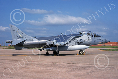 AV-8B-USMC 00013 A static McDonnell Douglas AV-8B Harrier USMC 162958 WE code VMA-214 BLACK SHEEP 6-1994 airplane picture by Robert Greby