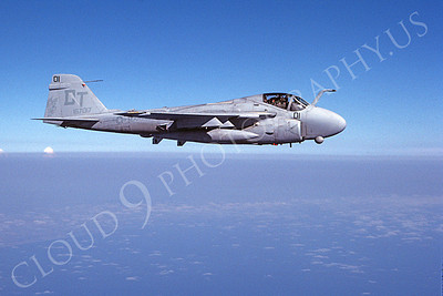 A-6USMC 00300 A flying Grumman A-6 Intruder USMC DT code 7-1990 military airplane picture by Robert L Lawson