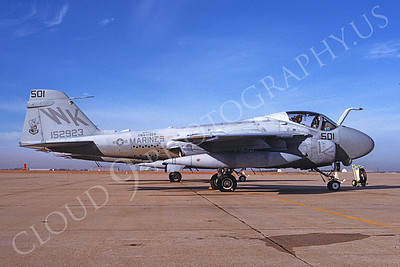 A-6USMC 00301 A static Grumman A-6 Intruder USMC 152923 VMA(AW)-224 BENGALS 1-1989 airplane picture by Michael Grove, Sr