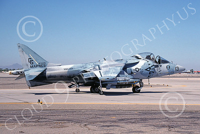 AV-8B-USMC 00059 A taxing McDonnell Douglas AV-8B Harrier USMC 163426 CG code VMA-231 ACE OF SPADES 10-1991 MCAS Yuma airplane picture by David F Brown