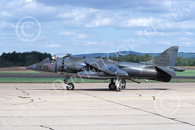 AV-8A-USMC 00001 A taxing McDonnell Douglas AV-8A Harrier USMC 158390 VMA-231 ACE OF SPADES 10-1979 military airplane picture by Michael Grove, Sr
