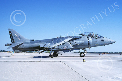 AV-8B-USMC 00049 A taxing McDonnell Douglas AV-8B Harrier USMC 162088 CG code VMA-231 ACE OF SPADES NAS Fallon 10-1994 airplane picture by Michael Grove, Sr