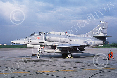 A-4USMC 00059 A static Douglas A-4M Skyhawk USMC 160035 VMA-311 TOMCASTS  2-1982 airplane picture by Michael Grove, Sr
