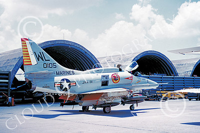 A-4USMC 00373 A static Douglas A-4E Skyhawk USMC 150105 VMA-311 TOMCATS with bombs Vietnam 5-1972 by Don Logan